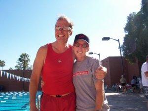 Marco insieme a Paula Newby-Fraser